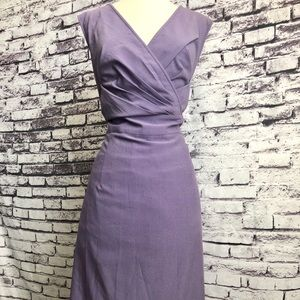 Avenue Lavender Purple Sheath Tea Dress